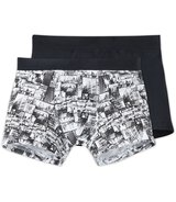 Jersey material boxers Uni, dark blue M