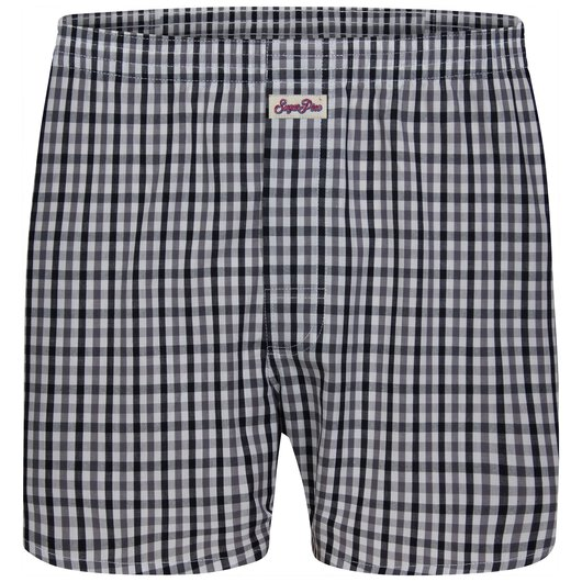 Sugar Pine - Loose woven boxer shorts with classic patterns made from 100% cotton - Check 1703