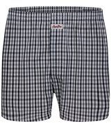 Sugar Pine - Loose woven boxer shorts with classic...