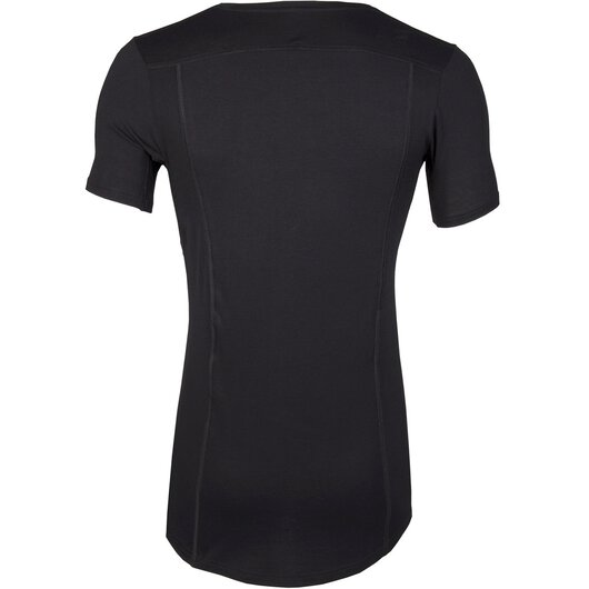 Lyocell V-Neck Shirt Good Life, Sweatproof (Schwarz)