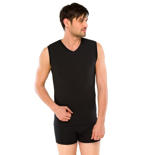 Tank Top Long Life Cotton, schwarz