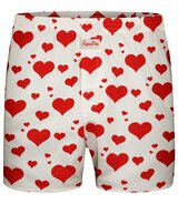 Sugar Pine - Mens Boxers Hearts - White - Size S...
