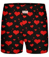 Sugar Pine - Mens Boxers Hearts - Black - Size S...