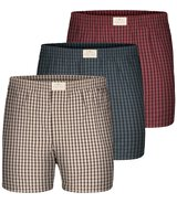 3-Pack Boxers Checks (Red/Blue/Grey)